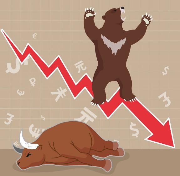 stock-market-concept-bull-and-bear-vector-5987683 Так ли плох медвежий тренд на фондовом рынке? Мнение экономиста