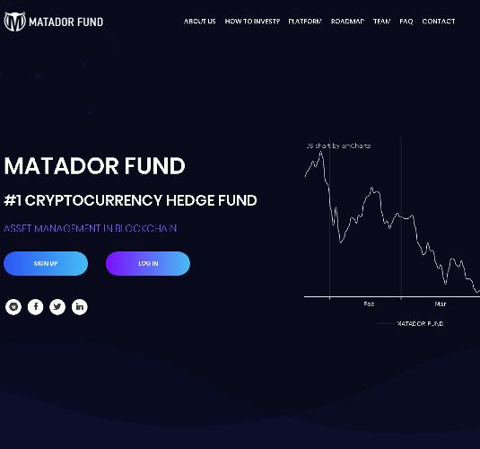 1-3 Matador Fund - Крипто Фонд с мировым именем для тех, кто действительно выгодно инвестировать